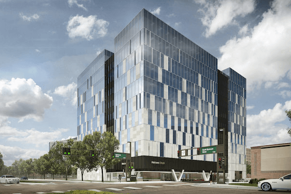 Exterior shot of 50 Fifty DTC Building